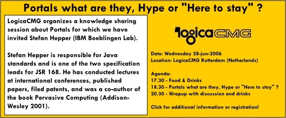 LogicaCMG Knowledge Sharing Session - Portals